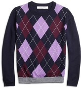Brooks Brothers Merino Wool Blend Argyle Sweater