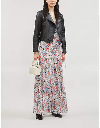 Ted Baker Samma cropped leather biker jacket