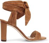 Jimmy Choo Kora Suede Sandals - Tan