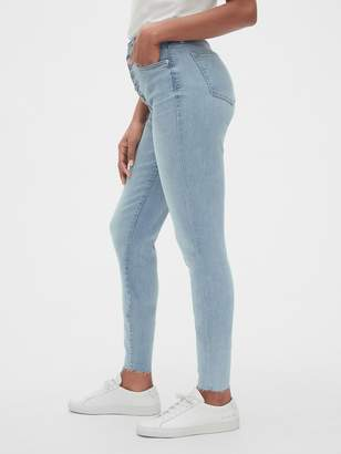 Gap High Rise Curvy True Skinny Ankle Jeans with Button-Fly