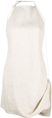 Jacquemus Open Back Draped Mini Dress