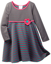 Iris & Ivy Quilted Two Sided Stripe Dress (Toddler & Little Girls)