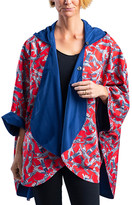 RainCaper Outerwear Capes Navy/Multi - Navy & Red Cool Cats Rain & Travel Cape