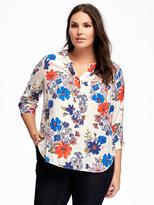 Old Navy Floral Plus-Size Hi-Lo Tunic