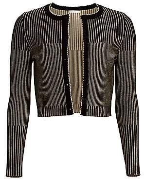 Oscar de la Renta Women's Cropped Knit Cardigan