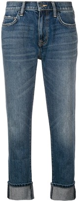 Current/Elliott Faded Cropped Jeans