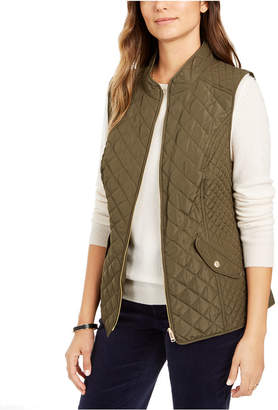 Charter Club Quilted Stand-Collar Vest