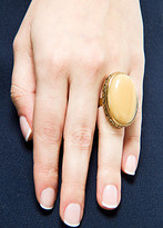 MANGO Stone embossed ring