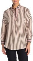 French Connection Striped Dolman Sleeve Boxy Top