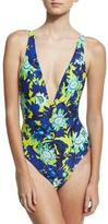 Proenza Schouler Plunge-Neck One-Piece Swimsuit