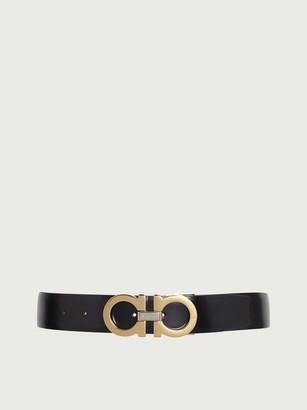 Salvatore Ferragamo Men Adjustable Gancini belt Black