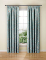 Marks and Spencer Floral Toile Print Pencil Pleat Curtain