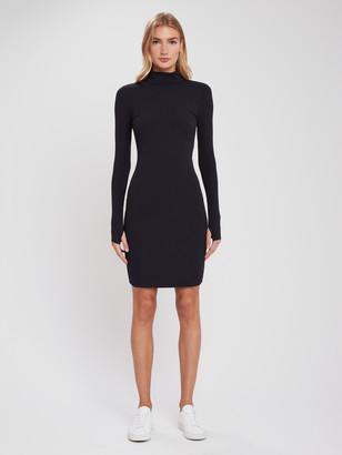 Lanston Sport Long Sleeve Turtleneck Mini Dress