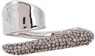 Alexander McQueen Embellished two-finger ring