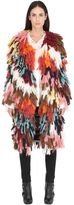 Chloé Wool & Silk Multicolor Yarn Coat