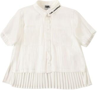Karl Lagerfeld Paris Pleated Shirt