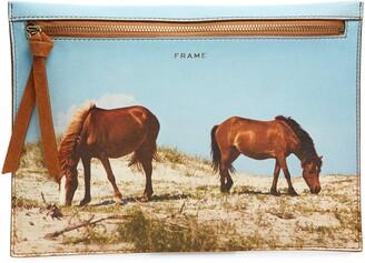 Frame Leather Clutch