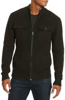 Kenneth Cole New York Contrast Zip-Front Sweater