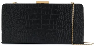 Saint Laurent Crocodile-Effect Clutch Bag