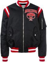 Moschino varsity logo bomber jacket