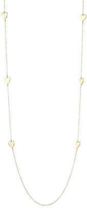 Jennifer Zeuner Jewelry Malia 14K Yellow Goldplated Heart Station Necklace
