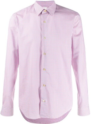 Paul Smith long sleeve gingham checked shirt