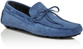 Canali Suede Woven Drivers