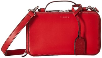 Lodis Audrey RFID Sally Zip Around Crossbody (Red) Cross Body Handbags