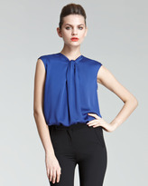Giorgio Armani Waterfall-Pleat Silk Blouse