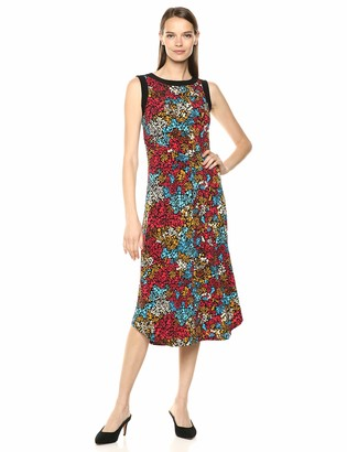 Chaus Women's S/L Mayan Floral Dress