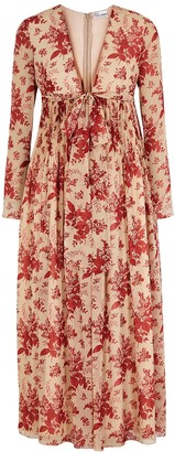RED Valentino Floral-print georgette dress