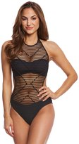 Kenneth Cole Wrapped In Love High Neck One Piece Swimsuit 8158746