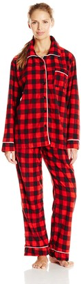 Bottoms Out Women's Printed Microfleece Pajama Set