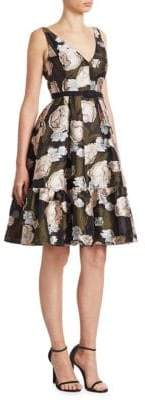 Erdem Belted Fit-And-Flare Dress