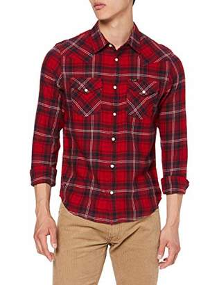 Lee Men's Western Shirt (Warp Red Kg)