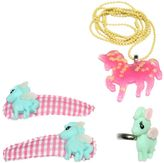 Pop Cutie Pony Ring, Necklace & Hairclip Set