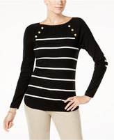 Charter Club Elbow-Patch Sweater, Created for Macy's