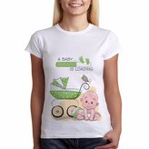 Printo Pregnancy T-Shirt Baby is Loading Funny Maternity Clothes Tees Baby S