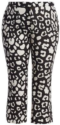 Marina Rinaldi, Plus Size Rilievo Leopard Print Pants