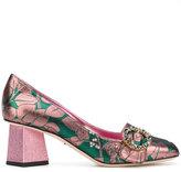 Dolce & Gabbana Jackie pumps - women - Leather/Talcum Powder - 35