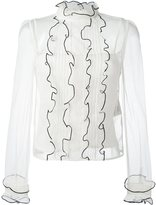 RED Valentino tulle blouse - women - Polyester/Silk - 40