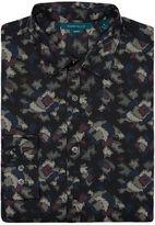 Perry Ellis Big and Tall Multicolor Camo Print Shirt