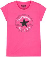 Converse Girls' Chuck Patch T-Shirt, Pink
