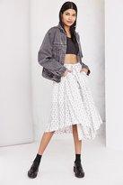Moon River Printed Tie-Waist Midi Skirt