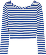 Ticcal striped stretch-jersey cropped top