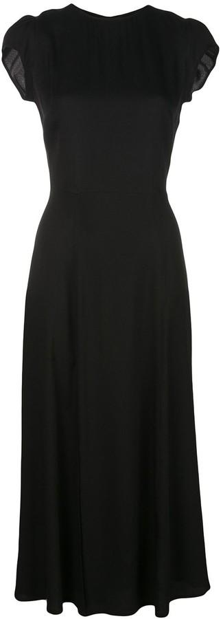 Reformation Gavin short-sleeve midi dress