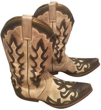 Non Signé / Unsigned Non Signe / Unsigned Multicolour Leather Boots