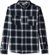 HUF Men's Ombre Plaid Long Sleeve Shirt