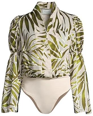 Azulu Zulu Puff-Sleeve Bodysuit