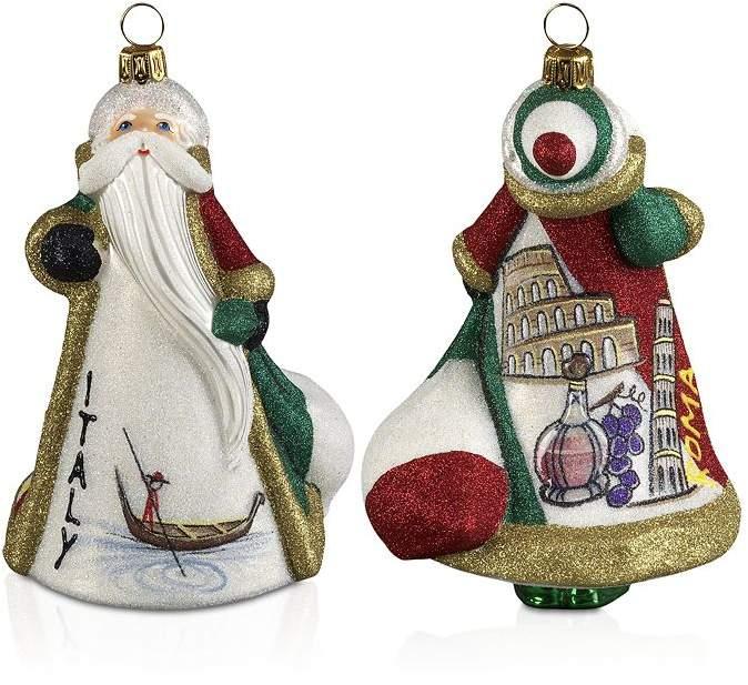 Glitterazzi International Santa Italy Ornament
